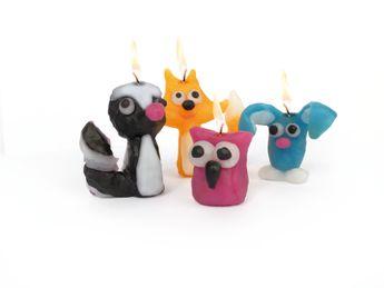"""Kit bougies à modeler """"crapules de la foret"""""""