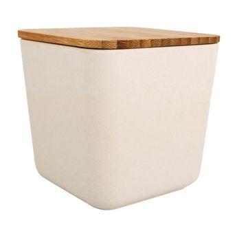 Boîte de réserve bambou, carrée, 700ml, 11x11x11cm, boîte 1pce