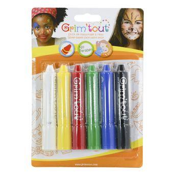 GRIM'TOUT Blister 6 sticks de maquillage - Couleurs basiques