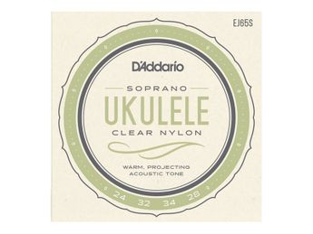 D'Addario - J65 pour Ukulélé Soprano - Nylon
