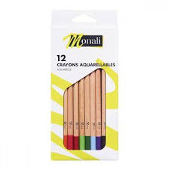 12 crayons aquarelle