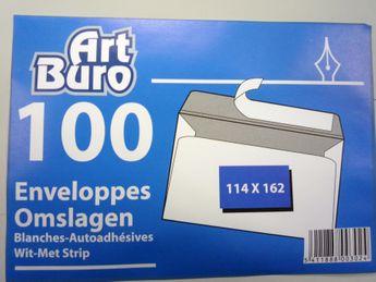 Enveloppes 114x162 - 100 pièces