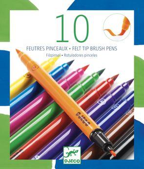 10 FEUTRES PINCEAUX-CLASSIQUE