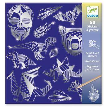 50 stickers à gratter - métal