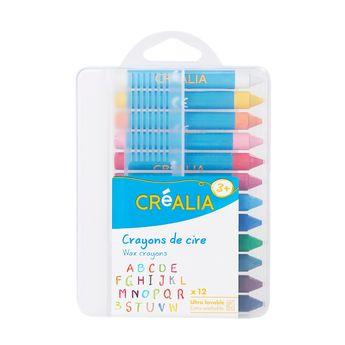 12 crayons de cire - Créalia