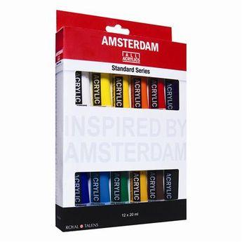Amsterdam couleurs acrylique set 12 x 20ml