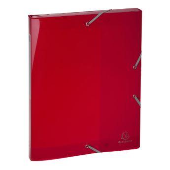 Boîte de classement + élastiques A4 IDERAMA PP D25 couleurs assorties
