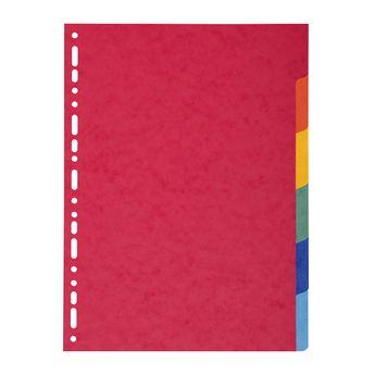 Intercalaires carte lustrée 225g 6 positions - A4