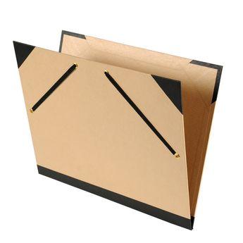 Carton à dessin kraft brun - 52x72 cm - à élastiques