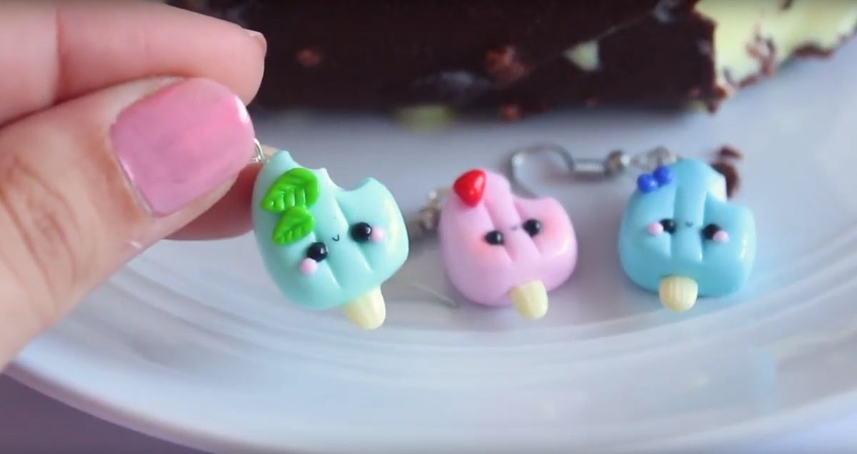 DIY - Boucles d'oreilles glace Kawaii avec FIMO
