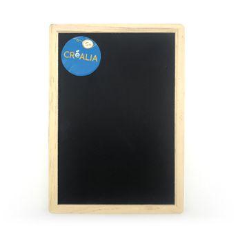 Ardoise noire à bordures bois - Créalia