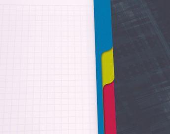 Bind'O Block 16x21cm 180p Q.5x5 cadré perfo. 6 trous + 3 intercalaires repositionnables