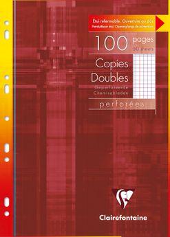 Copies doubles perf. s/étui 21x29,7cm 100p Q.5x5 + marge