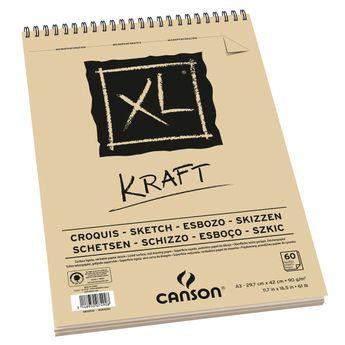 Album XL Kraft A3 - 60 feuilles