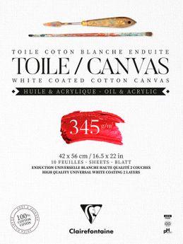 BLOC TOILE COTON 10F 42X56CM