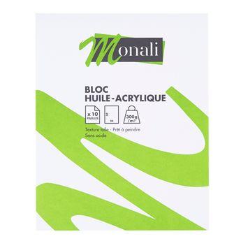 Bloc huile/acrylique 24 x 30 cm - Monali