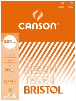 BL  20 F BRISTOL CANSON®  27X36 224G  BLANC