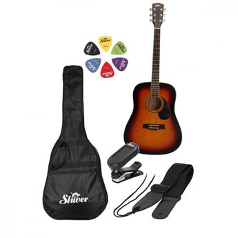 Shiver - Pack GFS-51 sunburst Guitare Folk