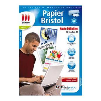 Papier Bristol Mat Recto Verso 200g A4 30f