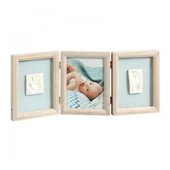 Kit Baby Art - Cadre empreinte 3 volets - My baby touch - bois cérusé